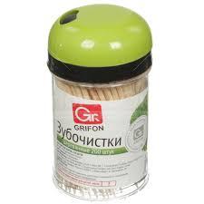 <b>Зубочистки Grifon деревянные 400-003</b>, 200 шт в Москве: отзывы ...