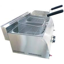 steinless steel propan gas commercial countertop deep fryer propane lpg 16 lt ce certified with 3 years warranty