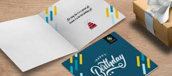 Folded Birthday Card Silk Greeting Cards Flat Folded Greeting Cards