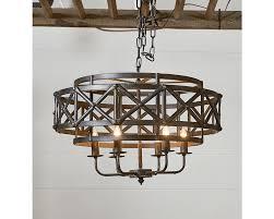 Magnolia Home Lighting Fixtures Magnolia Home 90915004 Black Industrial Trestle Chandelier