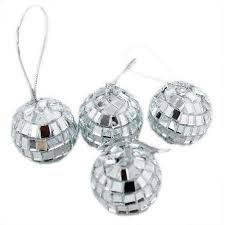 Mini Disco Ball Decorations 100 Count Christmas Tree Decorations Silver Mini Mirror Disco Ball 23