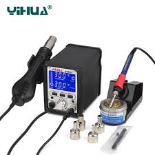 <b>YIHUA 995D+ Soldering Station</b> 2 IN 1 Lead Free Iron Soldering ...