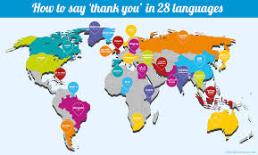 how to say thank you in languages oxfordwords blog thank you translations world map