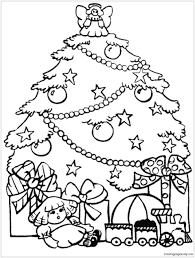 christmas tree with presents coloring pages. Simple Presents Christmas Tree Coloring Pages Pdf With Trees Presents And Page Printable For R