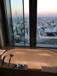 bathroom suite mandarin: mandarin oriental tokyo view from bathroom suite