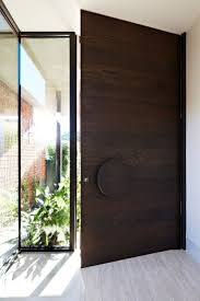 Modern Wood And Glass Exterior Doors Front Door Contemporary ...