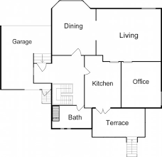 Simple Floor Plan Design Unoptimal Roomsketcher Blog H Inside Ideas