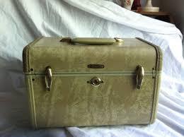 vine samsonite 4512 train or makeup case 1940 s by snorkelbuzz 22 95