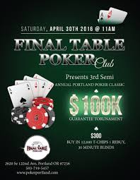 Round Table 122nd March 2016 Mutant Poker
