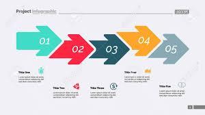 Timeline Slide Template Five Steps Arrow Chart Process Diagram Timeline Slide Template