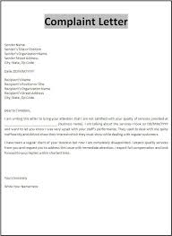 Complaint Letter Model Sample Resume Letters Job Application