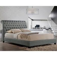 tufted bed. Baxton Studio Jazmin Queen Tufted Modern Platform Bed With Headboard In Grey