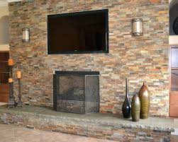 fireplace stone over tile putting stone fireplace tile hearth installing over