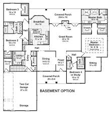 ingenious 4 bedroom house with finished basement attractive design ranch plans home