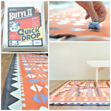make a dropcloth rug with paint full tutorial