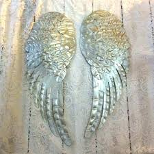 angel wing wall hanging marvelous design metal wings decor my of life large wooden small wood