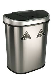 Decorative Kitchen Trash Cans Tips Upgrade Your Current Trash Can With Modern Touchless Trash