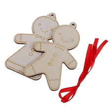 gingerbread man decoration template decorations for home tree wooden pendants gingerbread man