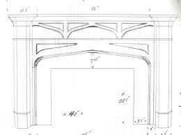 diy fireplace mantel sketch