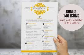 Creative Flower Resume Template Resume Templates Creative Market