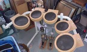 homemade electronic drum kit drum