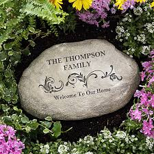 personalized garden stones our family 11667