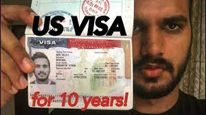 get usa visa for 10years ह द