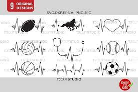 We provide free svg files. Free Heartbeat Svg Baseball Basketball Horse Soccer Nurse Svg Free Cheer Svg Cut Files