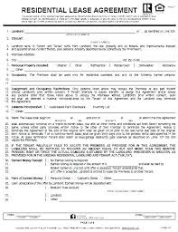 Residential Lease Contract House Rental Contract Template