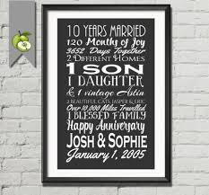 10th wedding anniversary gift inspirational year ideas for husband of breathtaking him couple modern 1920