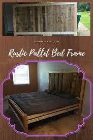 king size pallet bed rustic king size pallet bed frame 1001 pallets