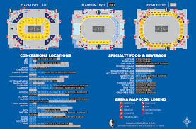Dallas Mavs Stadium Seating Chart Aac Concessions Map The Official Home Of The Dallas Mavericks