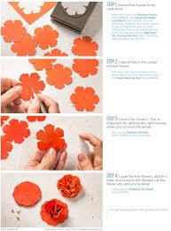 4 Petal Flower Paper Punch Stampin Up Paper Flowers Tutorial Tutorials Tips Tricks