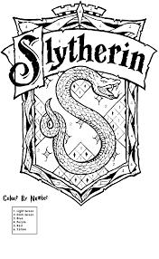Kleurplaat Embleem Slytherin Coloring Pages Harry Potter