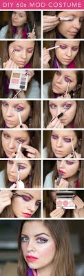 diy 60s mod costume for twiggy inspired look step by step makeup tutorial