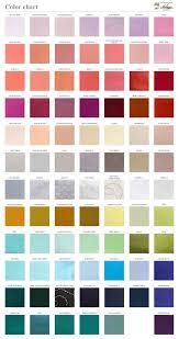 Wedding Color Chart Solid Color Chart Fabric Sample Wedding Ties