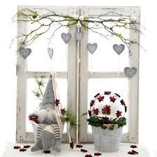 Weihnachtsdeko Im Landhausstil Fensterdeko Mit Zinkeimer Und