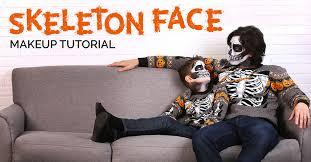 skeleton face makeup tutorial
