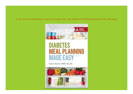 Diabetes Meal Planning Pdf Download _p D F Diabetes Meal Planning Made Easy Book