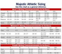Majestic Baseball Jersey Size Chart Majestic Athletic Youth Size Chart