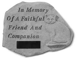personalized cat memorial stone in