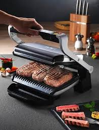 t fal gc702 optigrill stainless steel indoor electric grill removable plates new