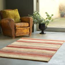 details about plantation regatta brick red brown striped wool rug 05 in various sizes
