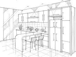 kitchen drawing perspective. Modren Kitchen Perspective View Of Dry Kitchen 2 And Drawing