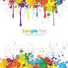 colorful paint splatter border. Colorful Paint Splat Vector On Splatter Border