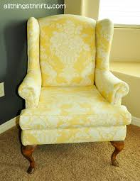 Armchair Upholstery Upholstering A Wing Back Chair Upholstery Tips All Things Thrifty