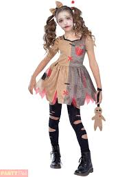 girls voodoo doll costume childs witch doctor fancy