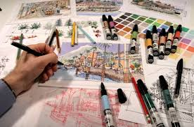 architectural hand drawings. \ Architectural Hand Drawings