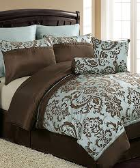 blue and brown bedding sets comfortable vcny home daniella comforter for king prepare 5
