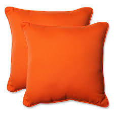 orange accent pillows. Amazon.com: Pillow Perfect Indoor/Outdoor Sundeck Corded Throw Pillow, 18.5-Inch, Orange, Set Of 2: Home \u0026 Kitchen Orange Accent Pillows H